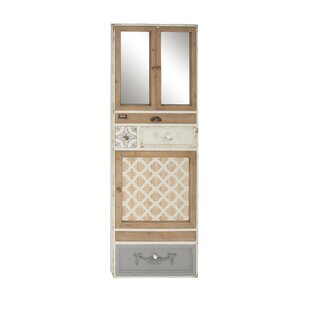 Ilario RusticMirror 2 Door Accent Cabinet with Drawers Framed Wall Decor by One Allium Way