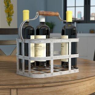 Nicks Galvanized 6 Bottle Tabletop Wine Rack