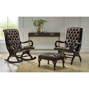 Colletti Chesterfield Chairs And Footstool By Astoria Grand