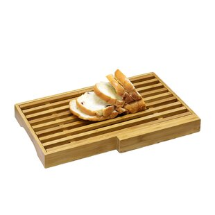 Harless Bamboo Bread Board with Crumb Catcher and Knife Block