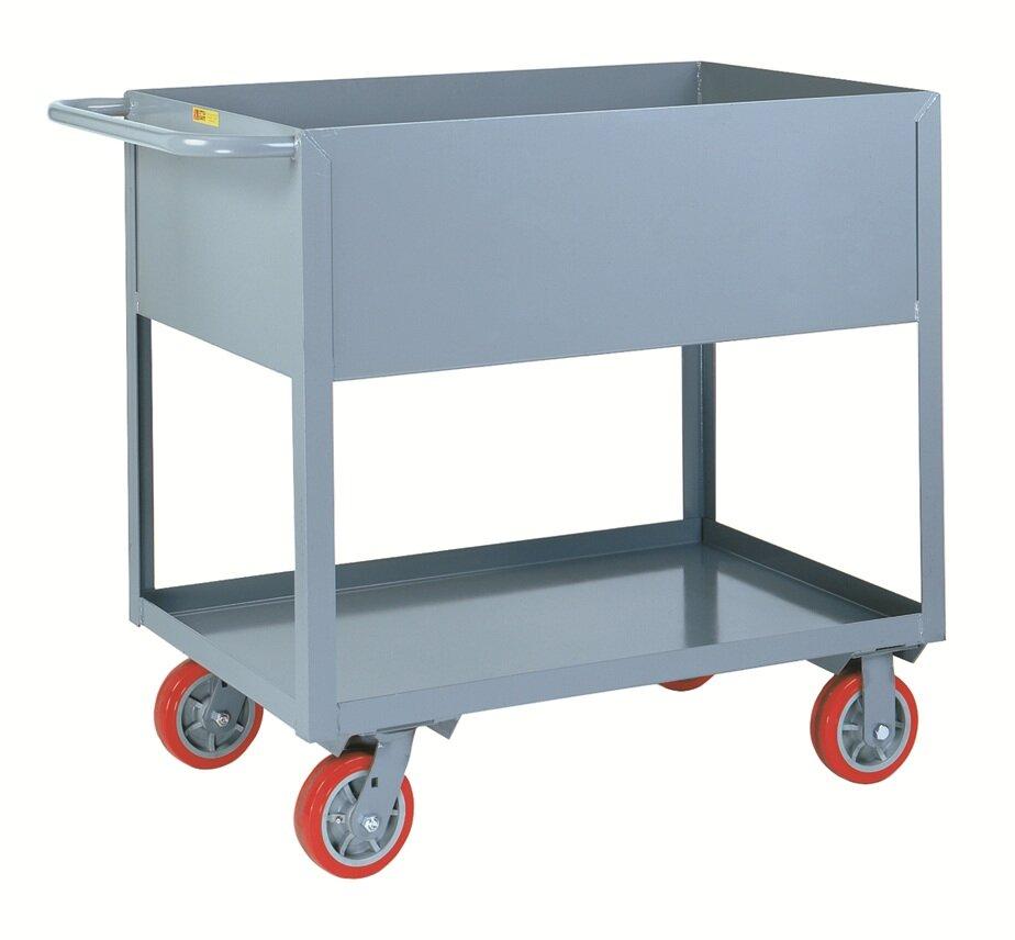 Little Giant Usa 18 X 35 5 Deep Shelf Steel Utility Cart Wayfair