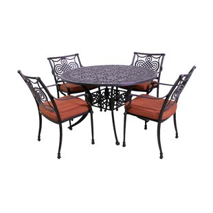 Laux 5 Piece Dining Set with Sunbrella Cushions by Bloomsbury Market