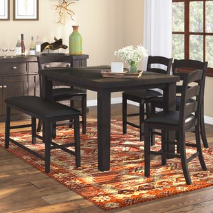 Bodie 6 Piece Counter Height Dining Set Loon Peak