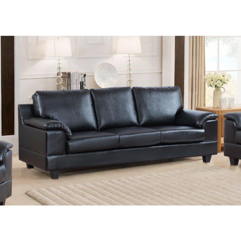 Laude Run Driggers Contemporary Style Sofa With Velvety Arm Rest Wayfair