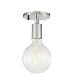Mathew 1-Light Semi Flush Mount by Langley Street