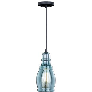 Bungalow Rose Pickett 1-Light Bell Pendant