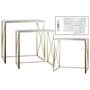 Pocklingt Metal 3 Piece Console Table Set