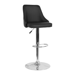 Nesbitt Adjustable Height Swivel Bar Stool Wrought Studio
