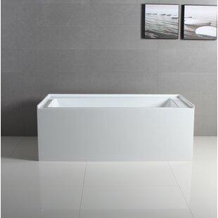 Coupon Acrylic 60 x 32 Alcove Soaking Bathtub ByKingston Brass