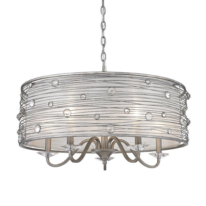 Mckeon 5 light drum chandelier reviews joss main mckeon 5 light drum chandelier aloadofball Images