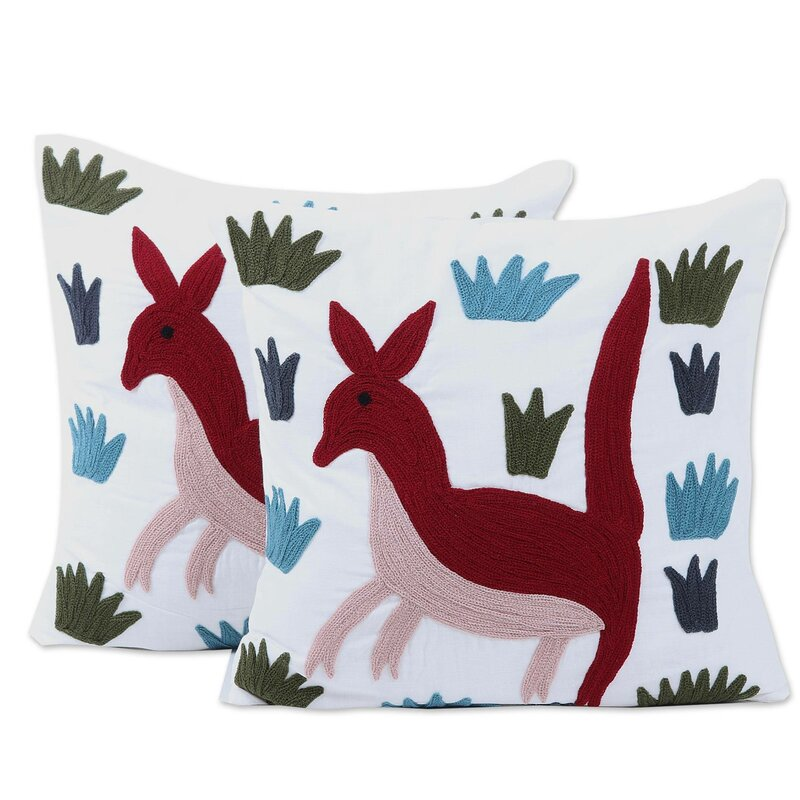 World Menagerie Craigban Cotton 16 Throw Pillow Cover Wayfair