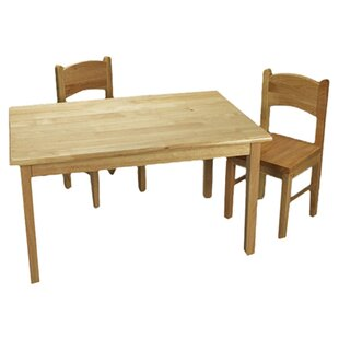 Virgilina Children's Kids 3 Piece Writing Table and Chair Set by Harriet Bee