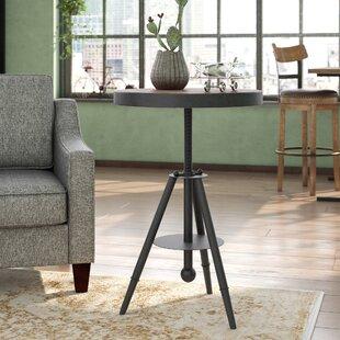 Biggs Adjustable Wood/ Metal End Table by Trent Austin Design
