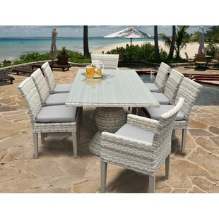 Rosecliff Heights Ansonia 9 Piece Aluminum Frame Dining Set
