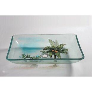 Legion Furniture Glass Rectangular Vessel Bathroom Sink
