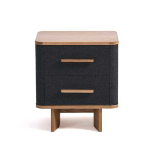Brayden Studio Jeb 2 Drawer Nightstand