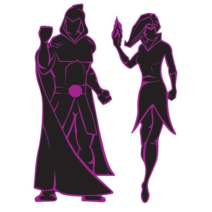 1283a41af 2 Piece Villain Silhouette Standup Set
