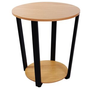 Ehrhardt Round Storage End Table by Ebern De..