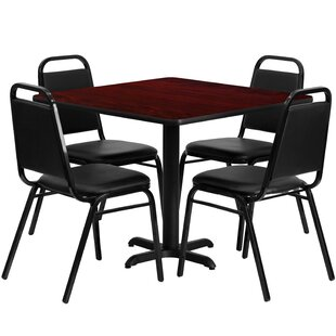 Twila 5 Piece Dining Set Red Barrel Studio