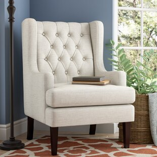 Alcott Hill Argenta Button Tufted Wingback Chair