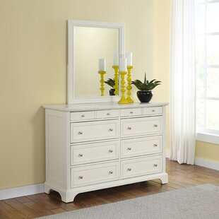 Alcott Hill Lafferty 8 Drawer Dresser with Mirror
