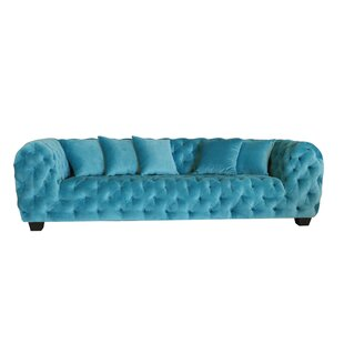 Casa Milano Velvet Tufted Chesterfield Sofa