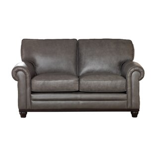 Shop Stafford Top Grain Leather Loveseat by Westland and Birch