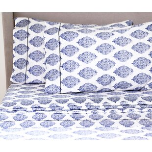 Kay 400 Thread Count 100% Cotton Sheet Set by House of Hampton Sale