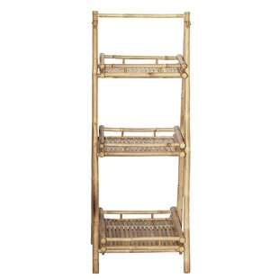 Folding Bamboo Three Shelf Etagere