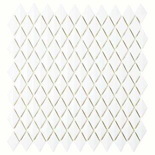 Esamo Glass Mosaic Tile in White