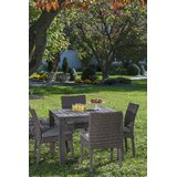 Nishant 5 Piece Sunbrella Dining Set with Cushions