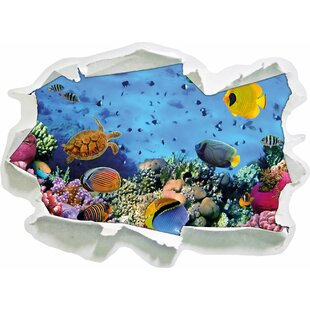 Colourful Fish Over Coral Reef Wall Sticker By East Urban Home