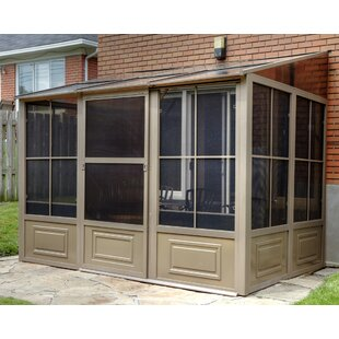 Gazebo Penguin All Season Add-A-Room 16 Ft. W x 10 Ft. D Aluminum Wall Mounted Patio Gazebo