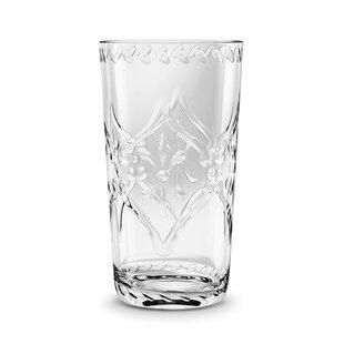 Scroll Cut 635ml Plastic Drinking Glass (Set Of 4) By Tar Hong