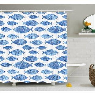 Kentshire Mosaic Fish Decor Shower Curtain