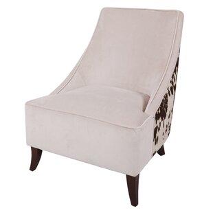 Westfir Cowhide Slipper Chair by Loon Peak