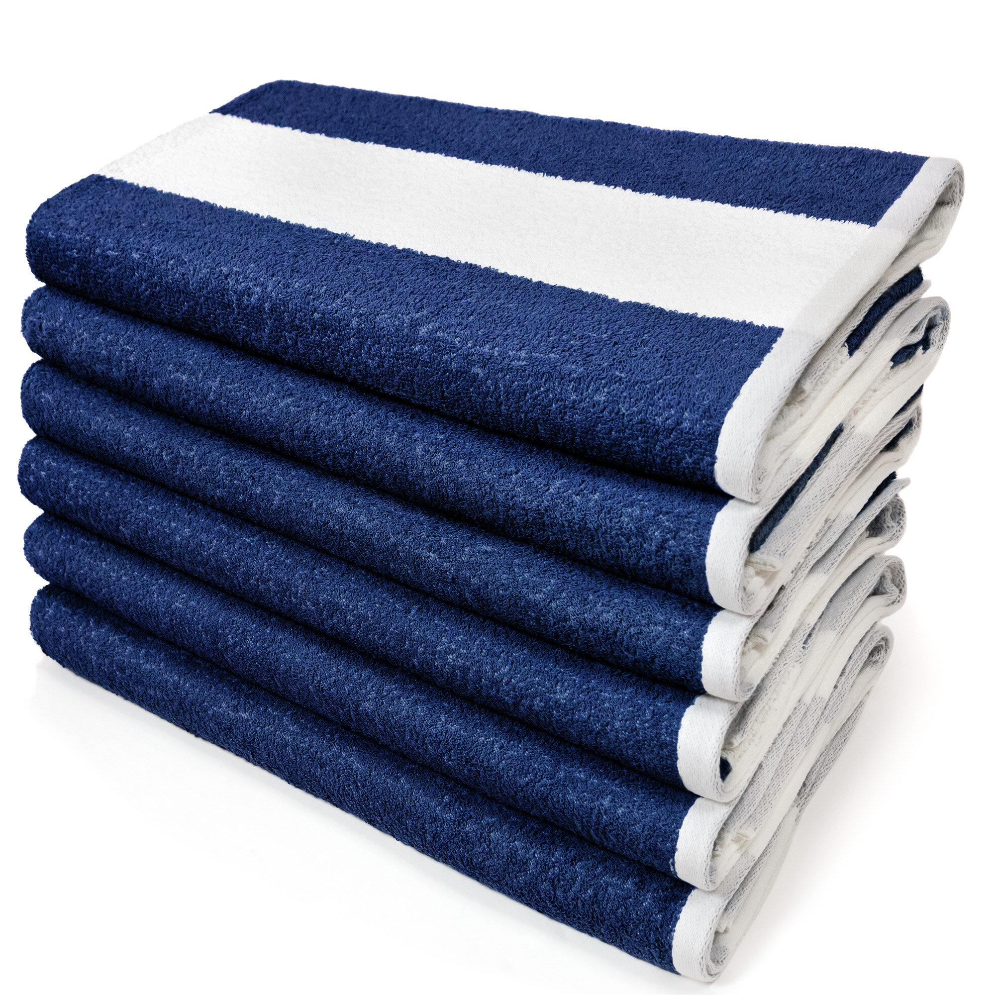 Kaufman Sales 6 Piece 100 Cotton Beach Towel Set Reviews Wayfair