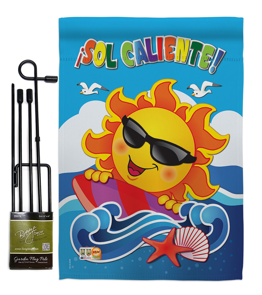 Breeze Decor Sol Caliente Summer Fun In The Sun Impressions 2 Sided Polyester 2 Piece Flag Set Wayfair