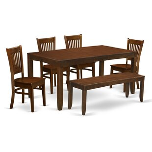 Lynfield 6 Piece Dining Set East West Furniture