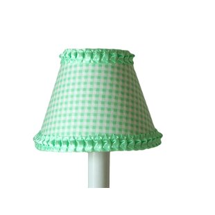 Mint green lamp shade wayfair after dinner mint 11 fabric lamp shade mozeypictures