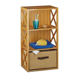 Aziz 3 Tiers 42 X 80cm Bathroom Shelf With Basket By Brambly Cottage