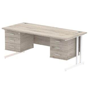 Zetta Corner Executive Desk By Ebern Designs