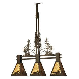 Meyda Tiffany Loon Tall Pines 3-Light Kitchen Island Pendant
