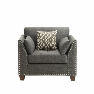 Merauke Transitional Style Wood and Linen Armchair