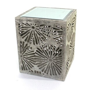 AspasiaFloral Wooden End Table by Bungalow Rose