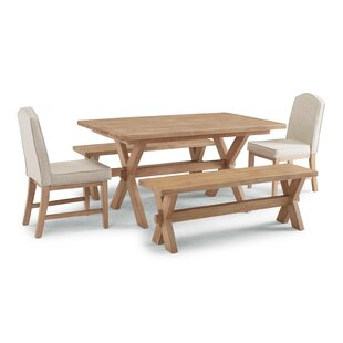 Romford 5 Piece Dining Set Three Posts