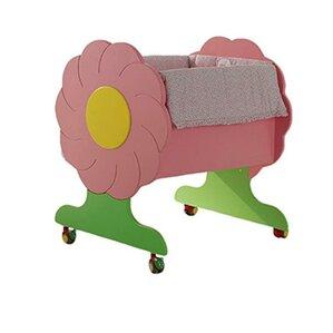 Mimosa Wooden Portable Mini Crib With Mattress