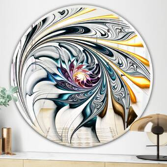 East Urban Home Stained Glass Floral Art Modern And Contemporary Frameless Wall Mirror Wayfair