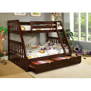 Find the perfect Clack Twin over Full Bunk Bed with Trundle by Harriet Bee Reviews (2019) & Buyer's Guide