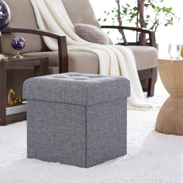 Winston Porter Lambertville Foldable Tufted Square Cube Foot Rest Storage Ottoman Reviews